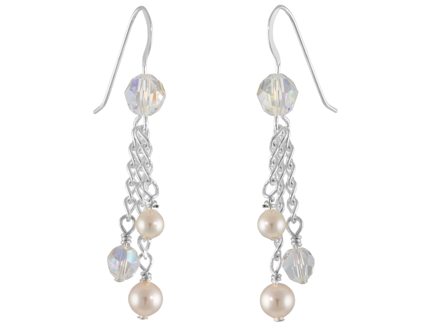 Earrings with Pearls & Crystals