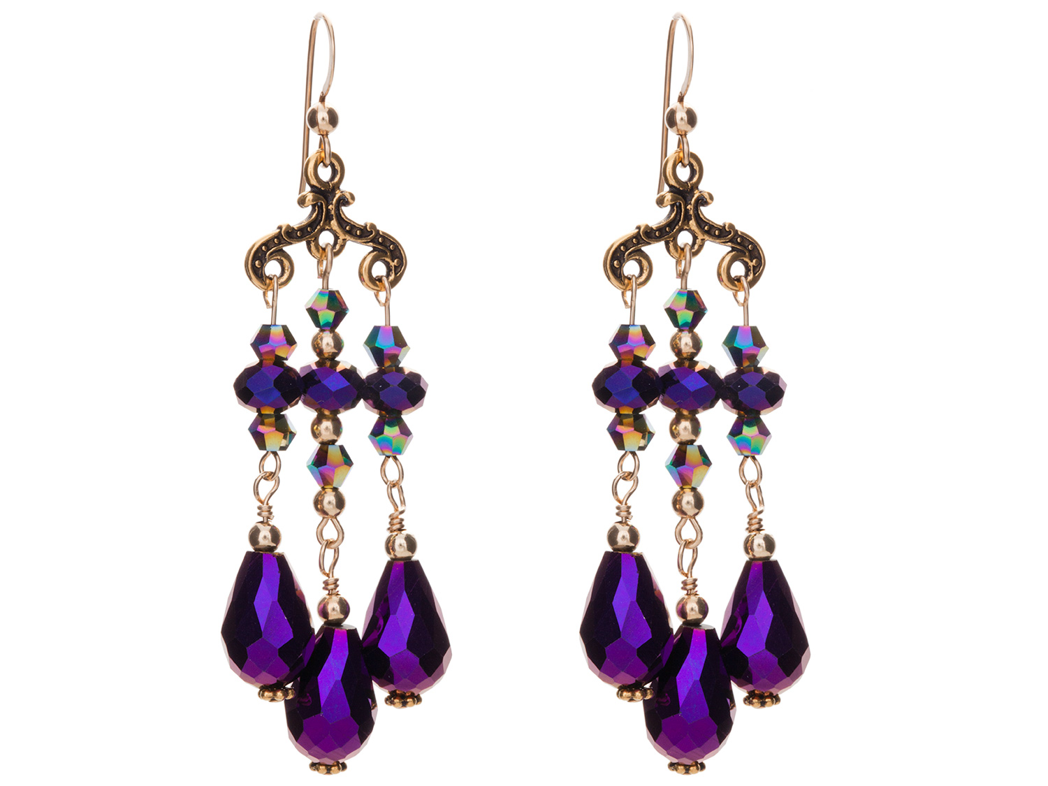 Dazzling Plum Earrings
