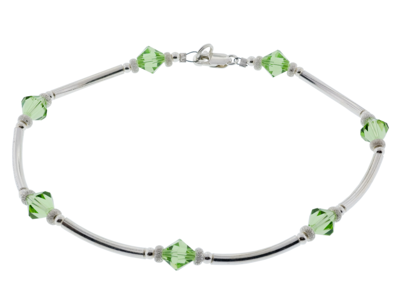 Peridot Scalloped Anklet
