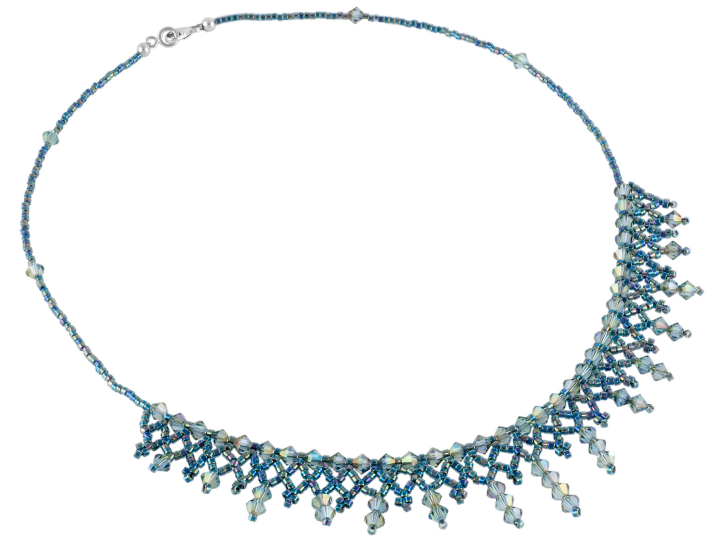 Aqua Purple Haze Lace Necklace