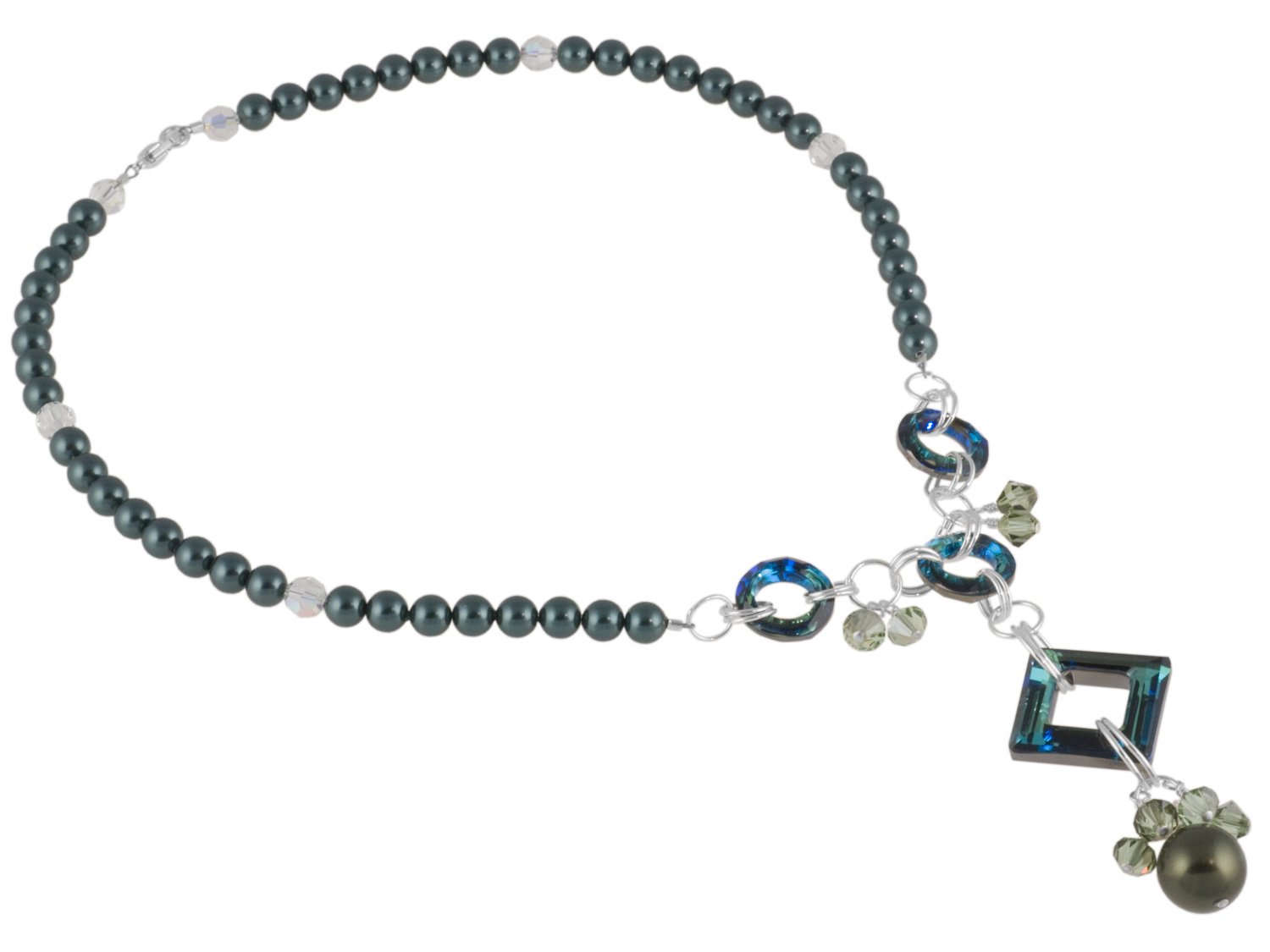 Bermuda Blue Frame Necklace