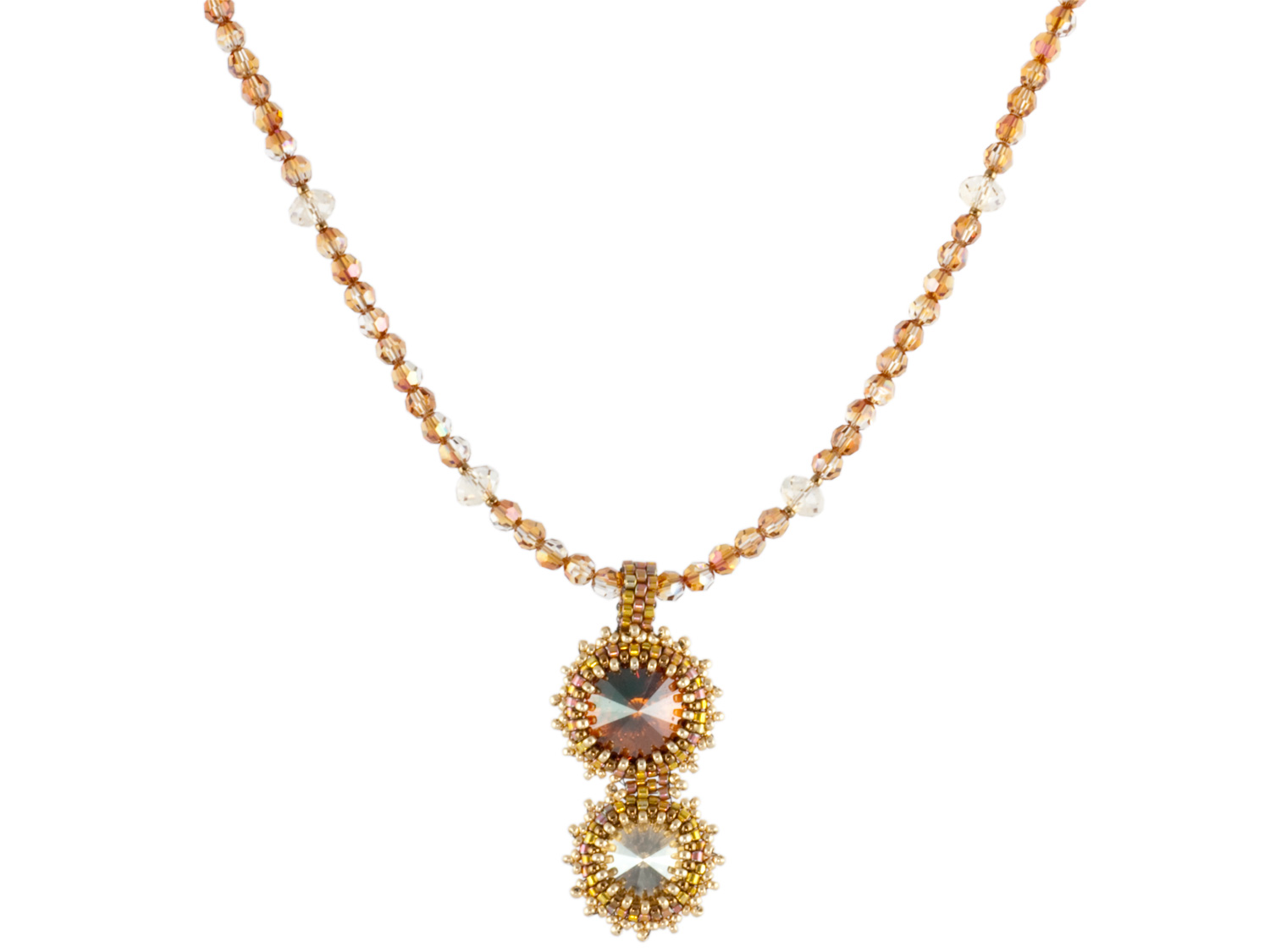 Crystal Copper Rivoli Necklace