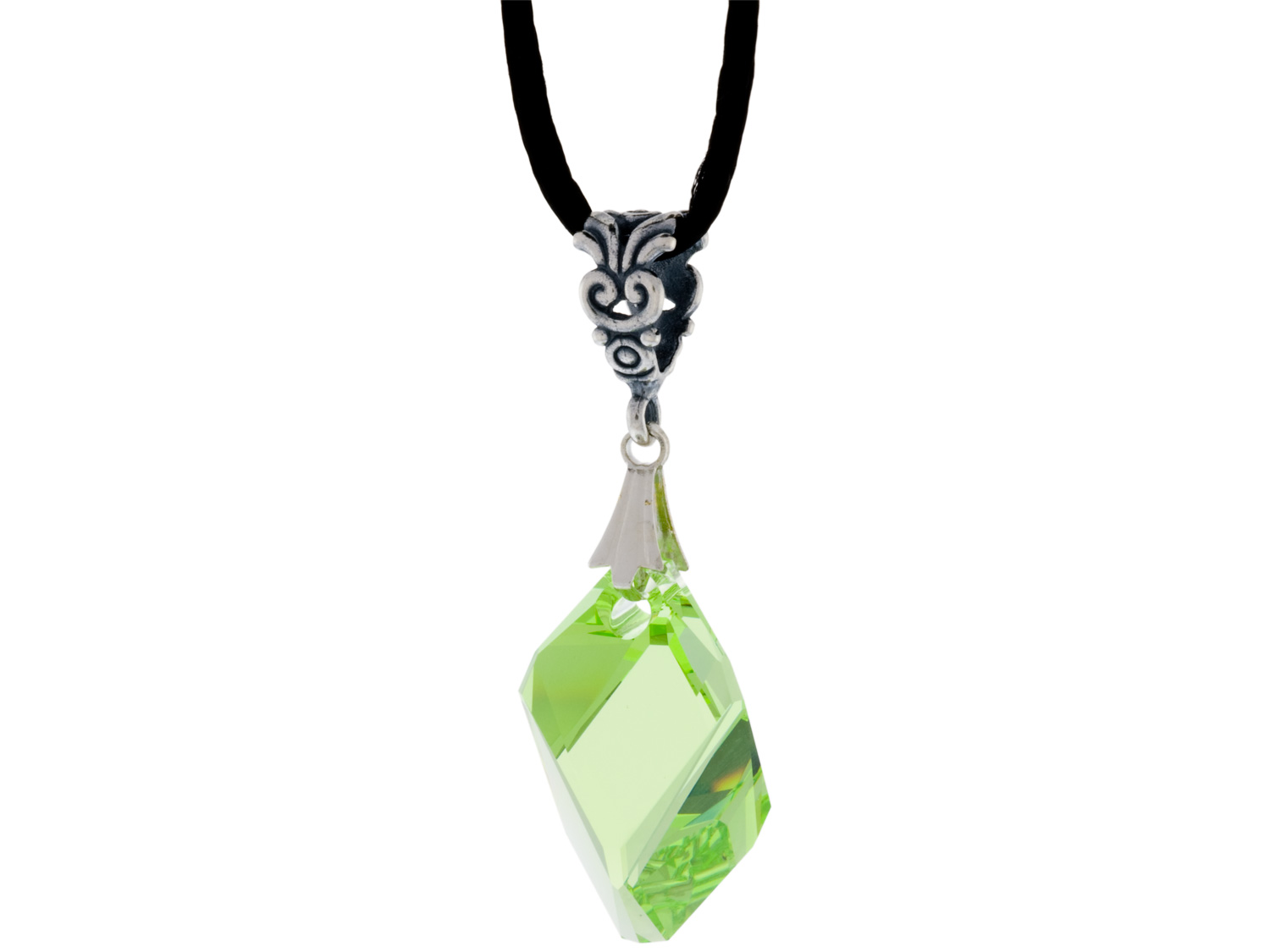 Peridot Cubist Necklace