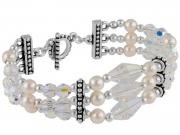Bracelet with Pearls & Crystals